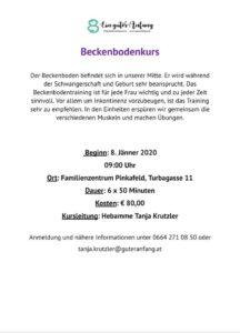 Beckenbodenkurs @ Familienzentrum Pinkafeld